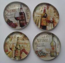 4 Tuscan Grapes Red White Wine Glass Magnets Kitchen Refrigerator Decor