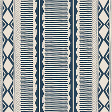 Art Gallery ~ Woven Path Navy Fabric / quilting stripe white dressmaking bag