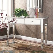 Mirrored Console Table Entryway Accent Living Room Bedroom Storage Sofa End NEW