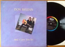 DON McLEAN And I Love You So UK MINT Vinyl LP 1ST PRESSING 18 Tracks EMS 1346