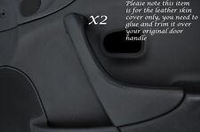 BLACK STITCH 2X DOOR HANDLE TRIM LEATHER COVER FITS MAZDA MX5 MK2 MIATA 98-05