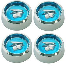 Mercury Head Magnum 500 Wheel Cap Blue Set of 4