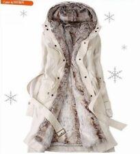 Damen 2in1 WinterJacke Wintermantel Trenchcoats Kapuzenjacke Mantel Mit Kapuze