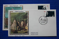 "Canada (1108-1109) 1986 Peacemakers of the Frontier Colorano ""Silk"" FDC set"