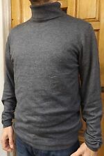 "MEN'S NEW M&S ROLL/TURTLE NECK JUMPER SIZE LARGE l 42"" GREY SWEATER - RRP £25"