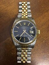 Rolex Oyster Perpetual Datejust Two Tone Jubilee Ref 16013 Circa 1986 Mens Watch