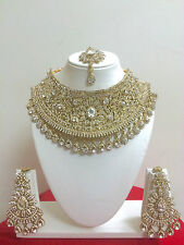 Indian Bollywood Gold Plated Bridal Wedding Costume Jewellery Necklace Set