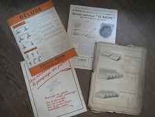Lot de brochures tarifs matériel agricole années 1940 1950 serres abreuvoirs...