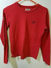 Abercrombie fitch size medium red long sleeve shirt search n rescue logo on back