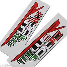 Aprilia Mille 1000 R Drapeau italien style Moto stickers graphique x 2 PIÈCES