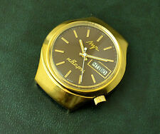 Vintage Soviet electronic-mechanical watches Luch, cal.3055,18 jewels, GP case