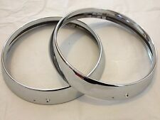 AUSTIN OR PRINCESS 1100 1300 VANDEN PLAS BRAND NEW HEADLIGHT RIMS (FREE UK POST)