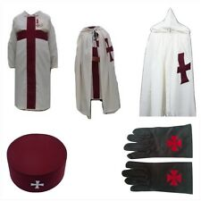 masonic regalia-KNIGHTS TEMPLAR (KT) PACKAGE (MANTLE+TUNIC+CAP+BADGE +GLOVES)