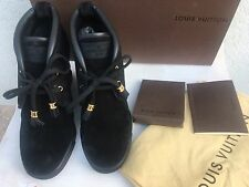 Louis Vuitton Kilimanjaro Size 38 Black Suede Shoes Boots Brand New