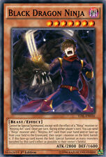 3x Black Dragon Ninja - TDIL-EN036 - Common - 1st Edition YuGiOh NM TDIL - The D
