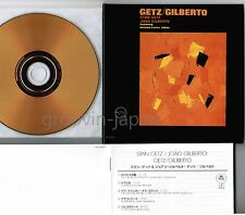 STAN GETZ & JOAO GILBERTO Getz/Gilbert JAPAN Mini-LP CD 24k GOLD UCCU-9502 w/PS
