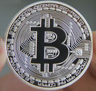 Silver Plated Bitcoin Coin Collection Physical BTC Coin Art collectible gift act