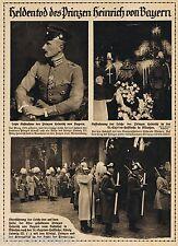 MÜNCHEN, Bilddokument 1916, Prinz Heinrich von Bayern Heldentod Trauerzug ADEL