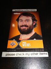 2015 NRL TRADERS FACES OF THE GAME CARD FOTG48/48 AARON WOODS WEST TIGERS
