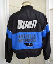 Vintage BUELL Motorcycles Jacket Purple Black Mens Size XXL 2XL Made USA