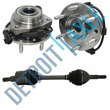1 FRONT CV Axle LEFT OR RIGHT + 2 Front Wheel Hub & Bearing Envoy Bravada