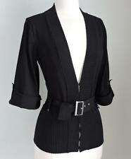 NWT INC INTERNATIONAL CONCEPTS Black Silk Belted Cardigan Sweater Large $79.00
