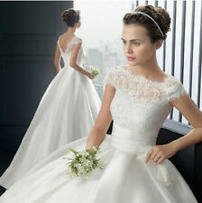 2017 New White Ivory Wedding Dress Bridal Bride Gown Sz 2 4 6 8 10 12 14 16 18++