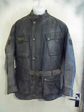 VINTAGE 80'S BELSTAFF TRIALMASTER WAXED MOTORCYCLE JACKET SIZE XL MADE ENGLAND