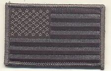 "2"" x 3 1/4"" ACU Black Gray Grey United States US Flag Embroidered Patch"