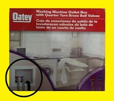 Oatey Washing Machine Outlet Box W/ Quarter Turn Bass Ball Valves - Model 38399