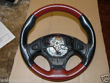 MGF/MGTF/MG TF Red + Black Leather Steering Wheel