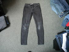 "Dorothy Perkins Skinny Jeans Size 10R Leg 30"" Black Faded Ladies Jeans"