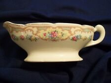 "Mt Clemens Vintage Pottery .. Sauce Boat / Gravy "" Mildred "" Pattern 1930's"