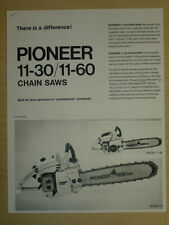PIONEER CHAINSAW, MODEL 11-30 / 11-60 CHAIN SAWS SPECIFICATIONS, MANUAL