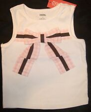 NWT Gymboree TULIP GARDEN white knit bow top 3 3T