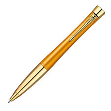 "Parker Urban Ballpoint Pen, Special Edition, ""Mandarin Yelow"" w/Gold Trim"