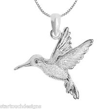 New .925 Sterling Silver Hummingbird Pendant Necklace