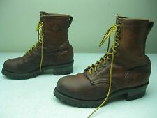 BROWN HERMAN SURVIVORS 20 BELOW ZERO MADE IN USA LACE UP LOGGER WORK BOOTS 11 D