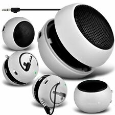 White Portable Capsule Rechargeable Compact Speaker For Doogee DG110