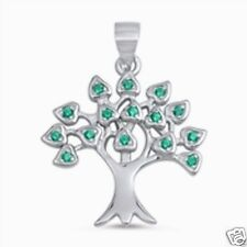 Silver Tree of Life Pendant Sterling Silver 925 Best Price Jewelry Emerald CZ
