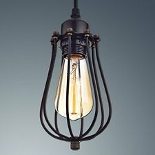 CLAXY® Ecopower Vintage Style Industrial Hanging Light Mini Pendant Wire Cage