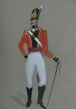 PAINTING OF AN OFFICER OF 8TH REGIMENT PRINCE OF WALES IRISH REGIMENT DATED 1812