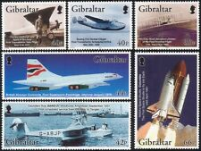 Gibraltar 2003 Concorde/Space Shuttle/Aviation/Planes/Aircraft 6v set (s6376)