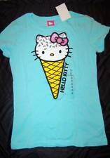 BEAUTIFUL HELLO KITTY ICE CREAM CONE WITH SPRINKLES TOP T SHIRT GIRLS SIZE 14