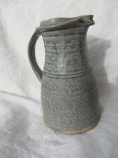 Ancien rare pichet La borne en grès couleur bleu gris