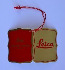 Leica M2 Original Filled Out Red & Gold Colored Inspection Tag with Red String