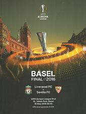 Liverpool v Sevilla - UEFA Europa League Final Programme - 18 May 2016 - MINT.