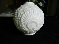 Vintage Round Milk Glass Shell Globe Light Shade Cover