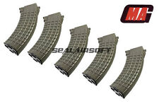 MAG 100rd Waffle Airsoft Toy Magazine For G&P Marui Std AK47 AK74 AK AEG OD 5PCS