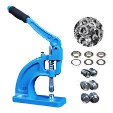 Heavy Duty Hand Press Grommet Machine Tool Full Set Kit-3 Die Set 900 Eyelets